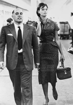 Sophia Loren and Carlo Ponti......Uploaded By www.1stand2ndtimearound.etsy.com