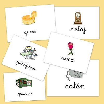 Bits de imágenes para repasar vocabulario: Letras Q y R