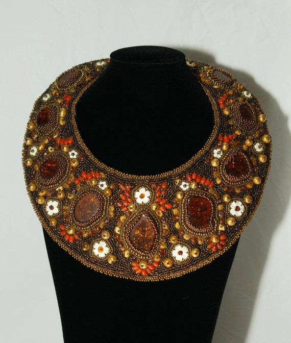 Boudicca Collar, Beaded Embroidery.