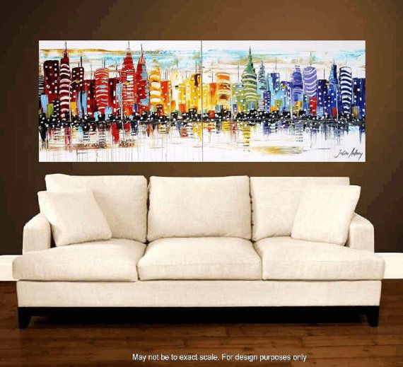 original Painting abstract painting large painting acrylic  from jolina antohny wall decor for your home. $499.00, via Etsy.