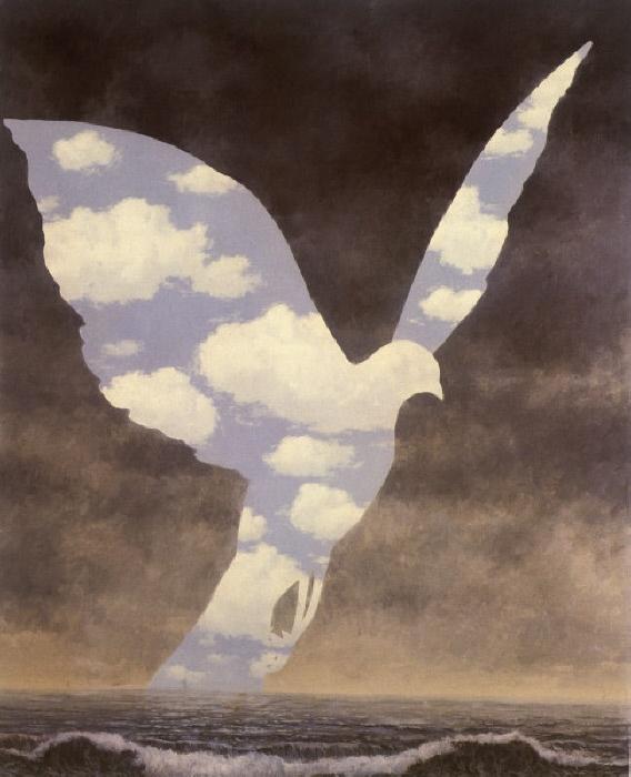 "Magritte, Rene 1898-1967. ""La Grande Famille"", 1963. \l auf Leinwand, 100 x 81 cm. Privatbesitz."