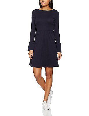 40, Blue (Sailor Blue), Tom Tailor Women's Cozy Skater Dress NEW