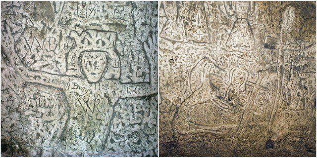 The mysterious carvings of the Royston cave
