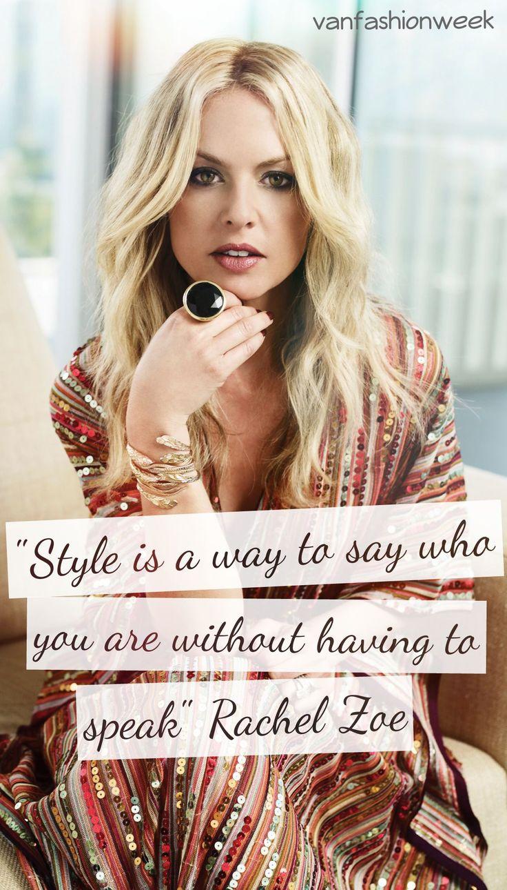 Quote by Rachel Zoe #VFW #quote