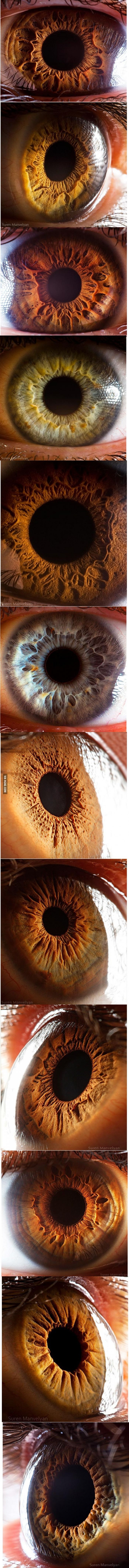 Beautiful and scary at the same time. Mezmerising close-up photos of the human eye.