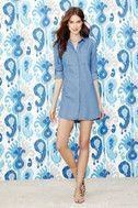 Shirt and Sweet Blue Chambray Shirt Dress 2