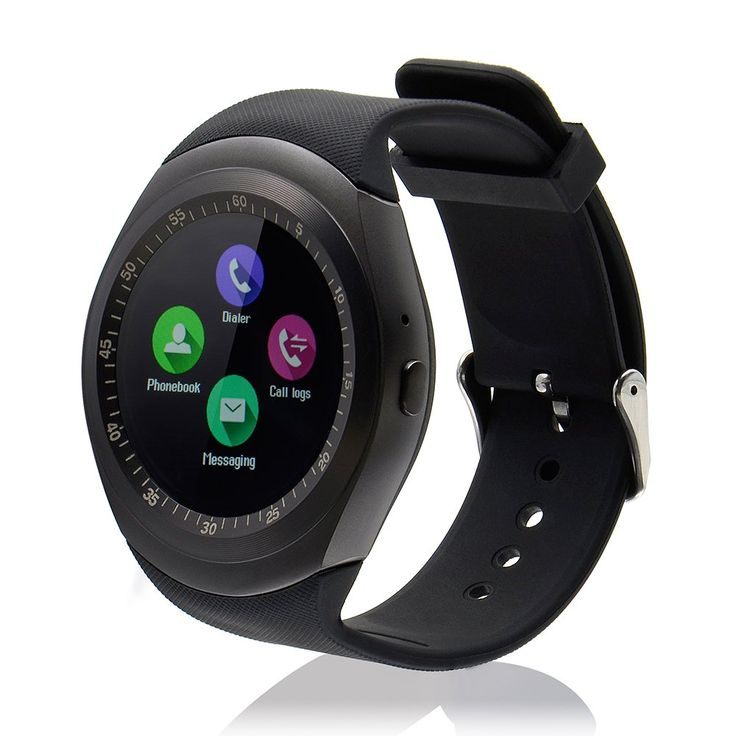 Smart watch + Unlocked Watch Cell Phone All in 1 Bluetooth Watch for iPhone and All Androids (A-Black)