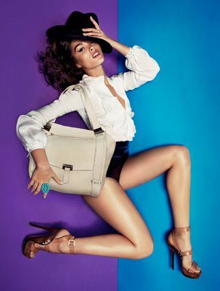 j'adore the bag, shoes, hair, make-up and photograph.