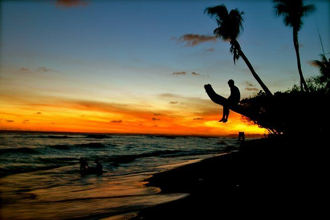 Sunset on the island Kiribati in the Pacific Ocean.  Picture: Jay Ferguson