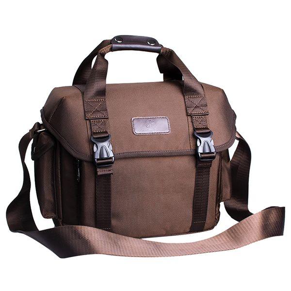 Koolertron Waterproof Fashion Casual DSLR Camera Bag Case Messenger Shoulder Bag for Canon Nikon Sony, Coffee