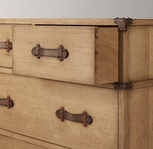 Wonderful Love This Dresser   With Metal Corner Brackets And Leather Drawer Pulls.  Wilkes Trunk