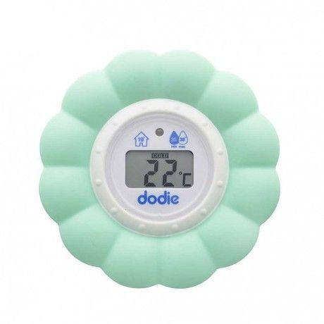 Un thermomètre qui mesure la température du bain et de la chambre