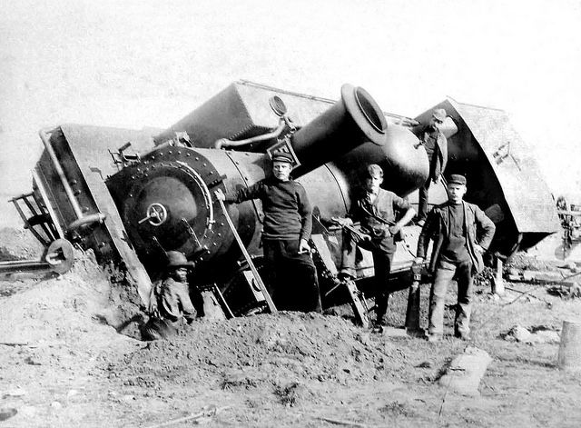 Derailed NZASM Locomotive as a result of the Explosion | Flickr - Photo Sharing!