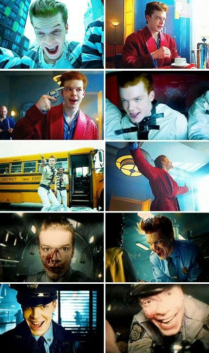 "Jerome Valeska on ""Gotham. Perhaps not THE Joker, but definitely a Joker prototype."