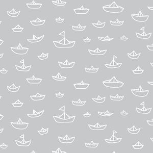 Michele Brummer Everett - Seven Seas - The Fleet in Gray  Organic cotton...for crib sheet?