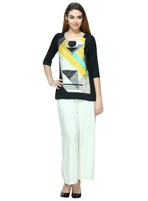 Ladies, Mens and Kids Fashion at Best Price: Rs. 1099 W for Woman Printed Multicolor Top