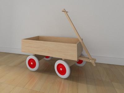 Modelado 3D de carro madera. #fotografia #3d #decoracion #carro #madera