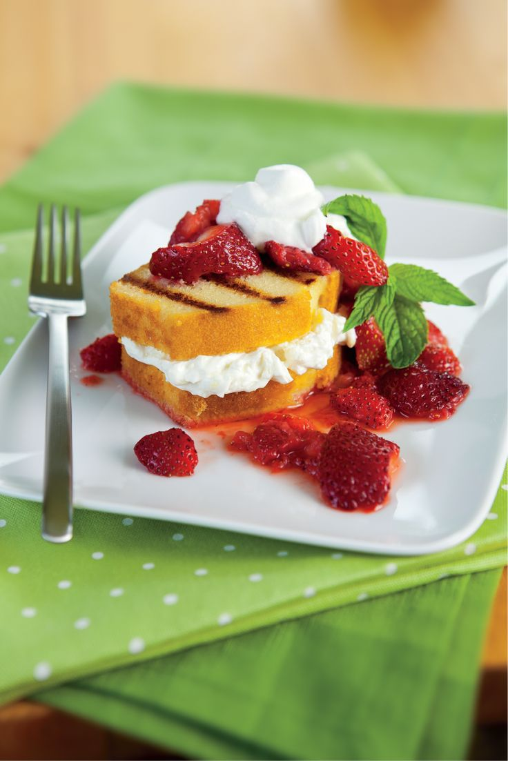Strawberries and Cream Grilled Pound Cake from Save Mart