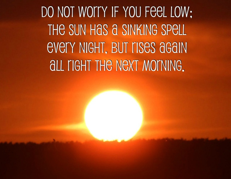 how to stop feeling low