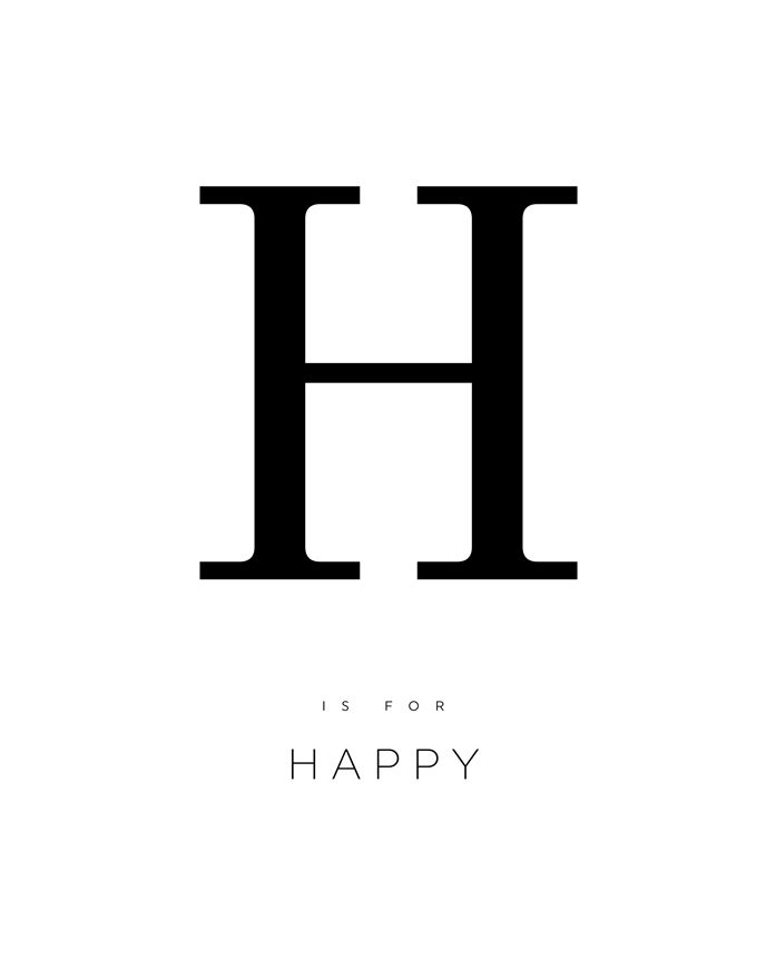 image relating to Printable Poster Letters identified as LETTER H POSTER, letter h print, satisfied, alphabet poster
