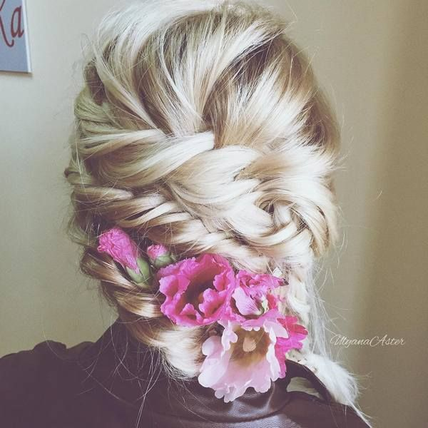 Wedding Updo Hairstyles for Long Hair from Ulyana Aster_02 ❤ See more: http://www.deerpearlflowers.com/wedding-updo-hairstyles-for-long-hair-from-ulyana-aster/