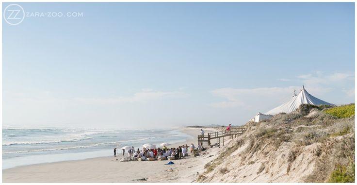 Wedding at #Strandkombuis, Outdoor #Ceremony, #Beach Ceremony. #ZaraZoo #Photography