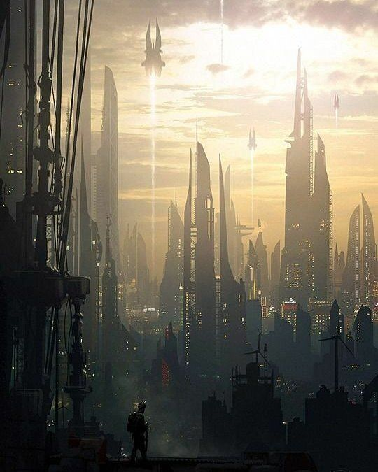 Art By Raphael Lacostescifidaily Scifi Alien Cyberpunk Delectable Inspirational Alien City