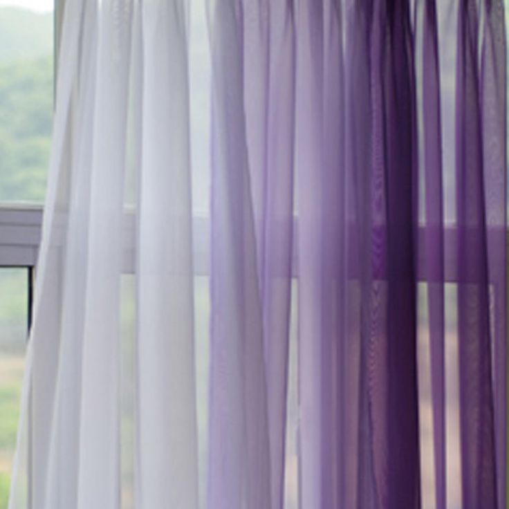I Love This Gradient Look With The Sheer! I Think Iu0027d Prefer A · Purple  Kids CurtainsSheer Curtains BedroomPeacock ...