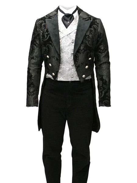 great victorian men's waistcoat with tails Simple but elegant. Not sure about the tie, may want to do something different