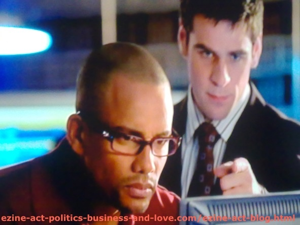 Hill Harper, Frank Harper, Dr. Sheldon Hawkes and Eddie Cahill, Edmund Patrick, Detective Don Flack on CSI NY.