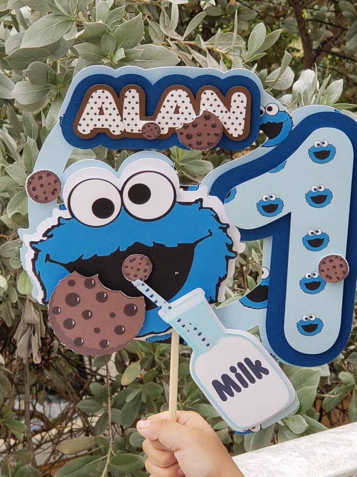 Cookie Monster Cookie Monster Cake Topper Cookie Monster