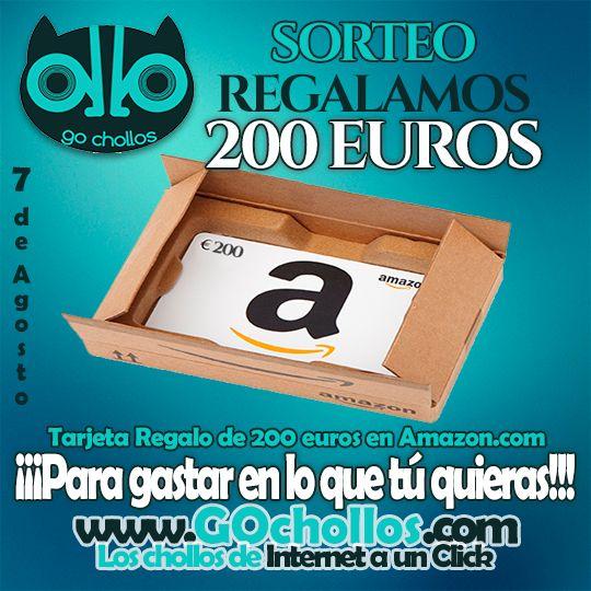 Ayúdame a ganar un cheque #regalo de 200 euros en Amazon.es con @Gochollos