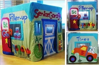 I love these playhouses. My sister and I used to use our card table as a playhouse.