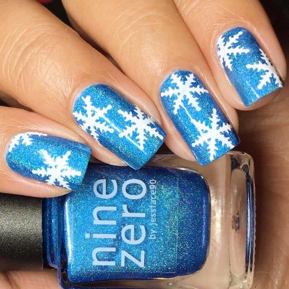 Snowflake Christmas Holiday Nail Vinyl Fingernail Art Stencil Decals