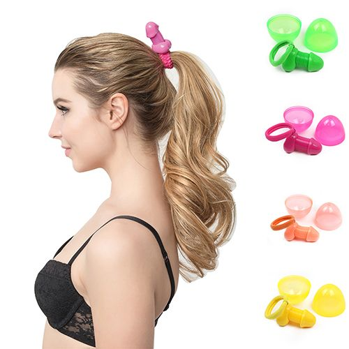 >> Click to Buy << 6 Pcs Creative Roomfun Sex Penis Hair Band Rope Toys Ponytail Holder Hairband  #Affiliate