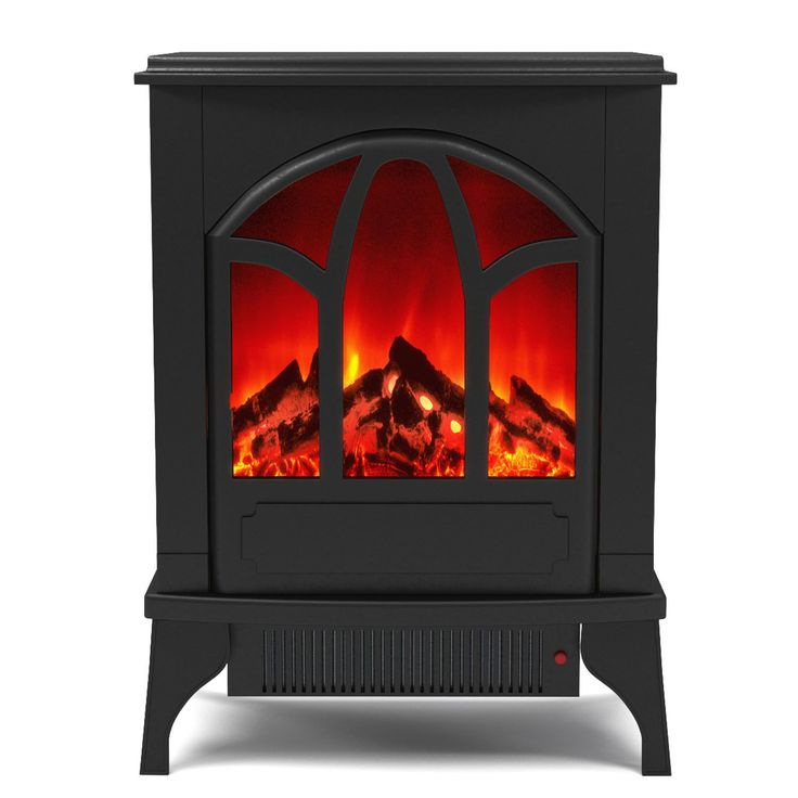 Moda Gibson Living Juno Free Standing Portable Electric Fireplace Space Heater Stove (Electric Fireplace Space Heater Stove), Black (Metal)