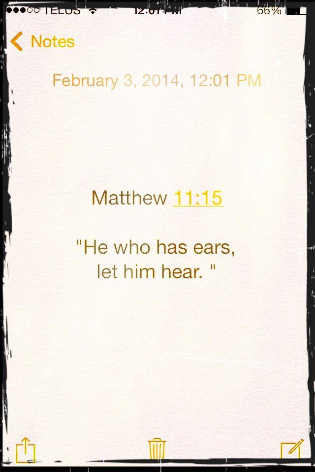 Matthew 11:15