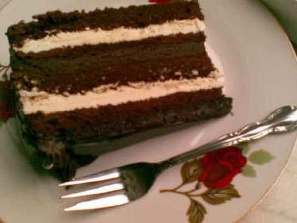 Rețetă Tort cu doua creme de ciocolata
