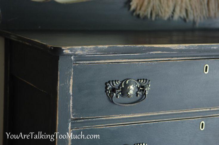 69 best good colors by valspar images on pinterest - Black chalk paint dresser ...
