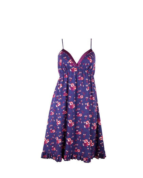Alexandra Brushed Floral Printed Chemise £27.00