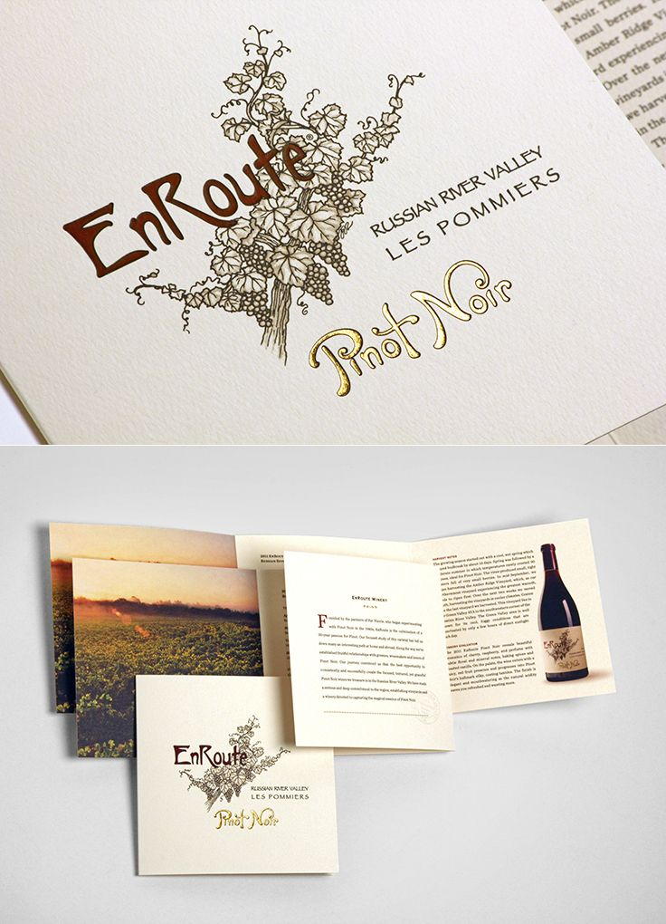 EnRoute Winery | Tasting Room Brochure | by designthis!