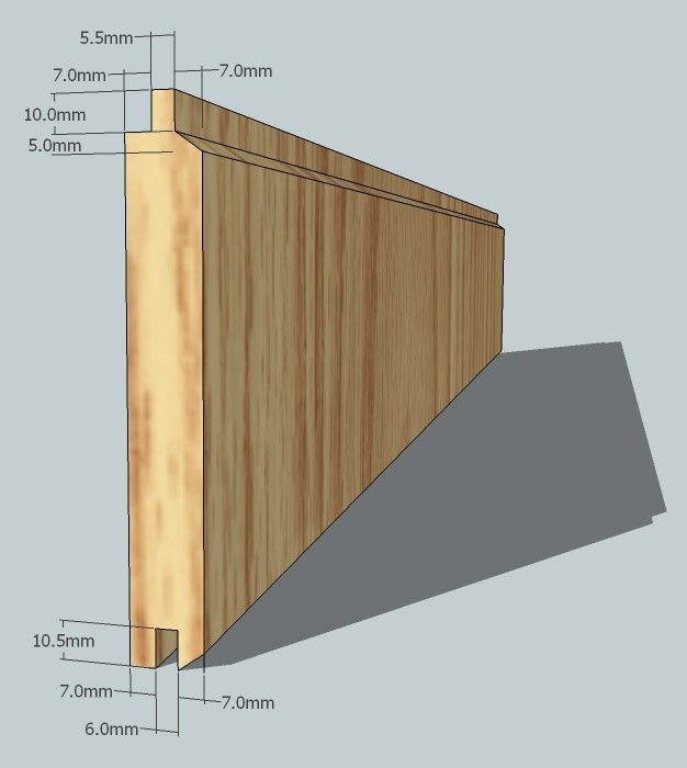 V Tongue and Groove Oak Internal Cladding