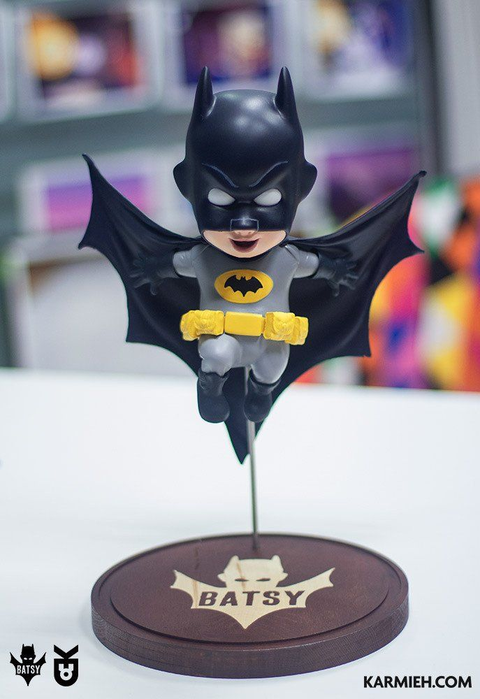 Batsy Adam West is a handcrafted resin toy, that has been sculpted, hand cast and hand painted by Oasim Karmieh