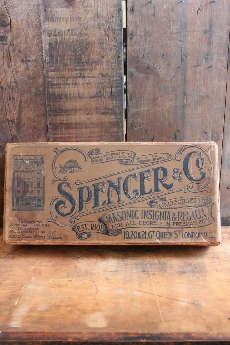 attic - 'Spencer & Co' VIntage Box -