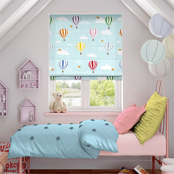 We simply can't get over how cute this Balloons Flying High design looks as a roman blind. Its softness is second to none and they're just no better design for a little one's first room.