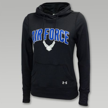 Under Armour Air Force Womens Logo Hood  | ArmedForcesGear.com