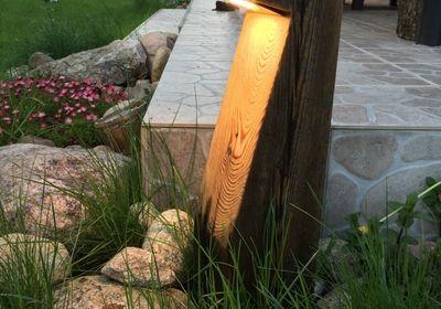 Piekno starego drewna... - Lampy ogrodowe