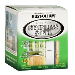 To update old camper appliances: Rust-Oleum 247963 Specialty Quart Oil Based Appliance, Stainless Steel
