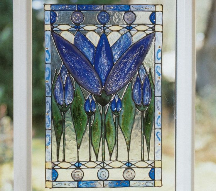 Imitatii de vitralii Tiffany - Crin albastru