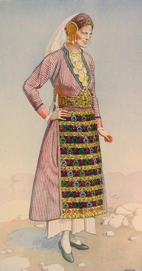Traditional festive peasant woman's dress. From Soufli (Greek Thrace, close to the Turkish border).